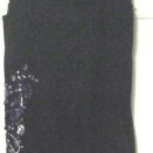 Black Beaded Embellished Jeans/Pants 24